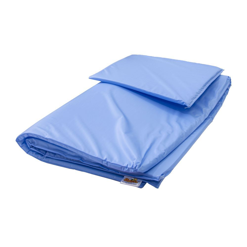 Skinco Baby Bed With Pillow-Blue