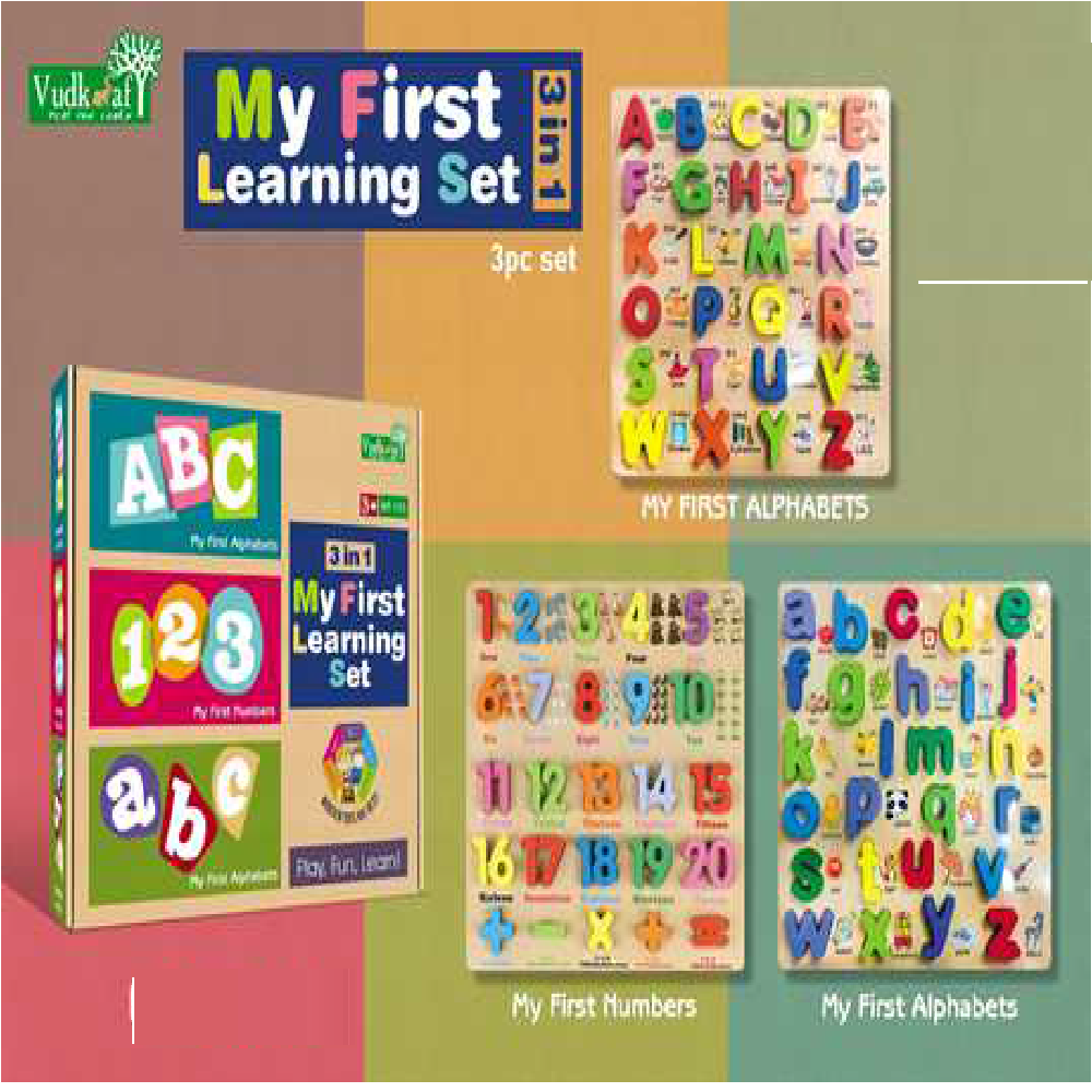 B21 3In1 My first Learning Set wooden 3 Piece Set Wt-193