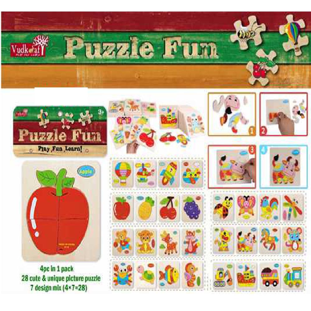 B21 4Piece Picture Puzzle Wooden Wt 223