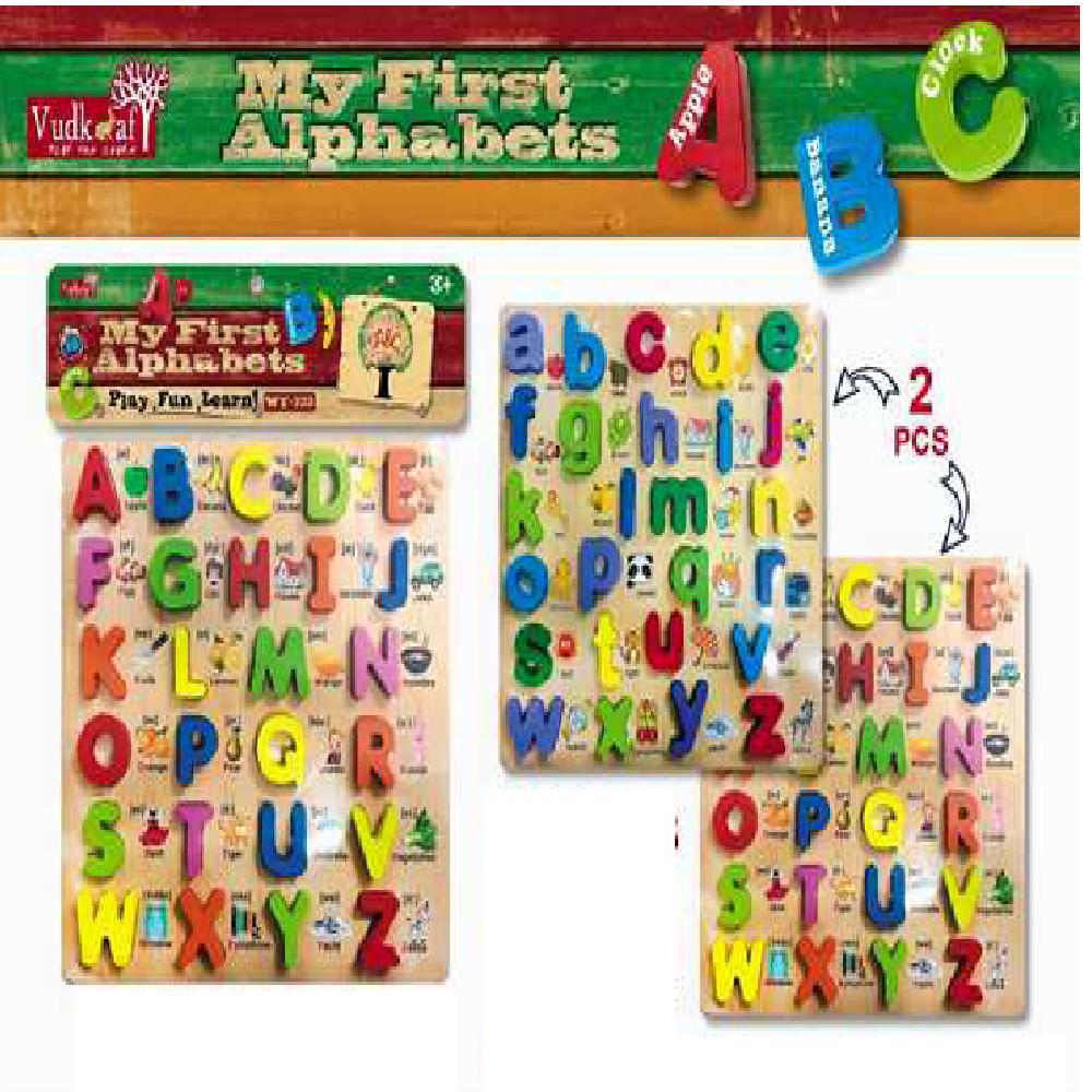 B21 Alphabet 2Pc Set Wooden Wt 333