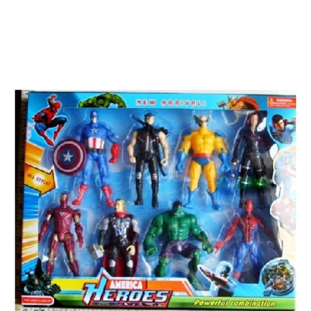 B21 Action superhero Playset 8 pc 68520