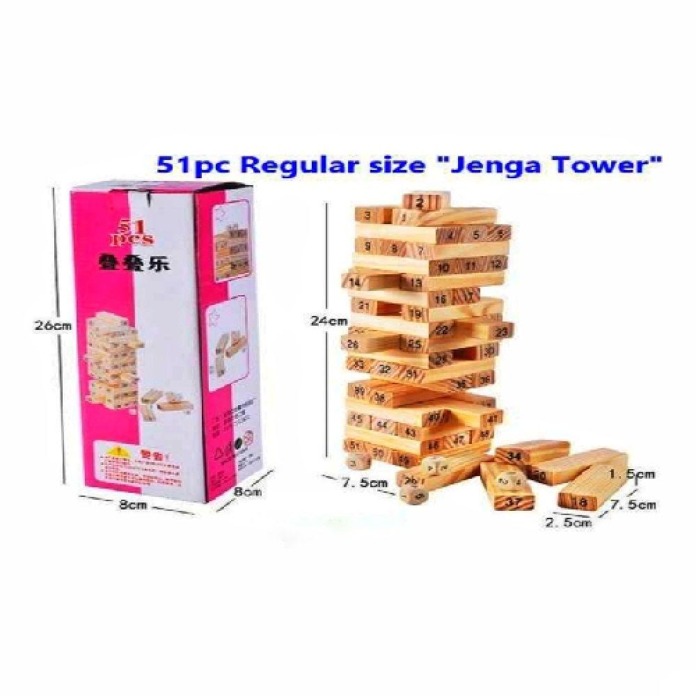 jenga wooden tower