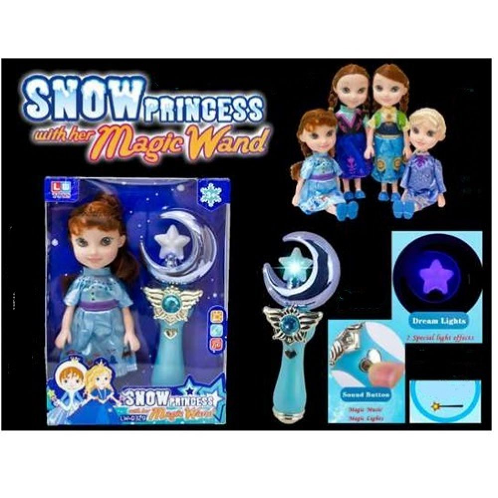 snow princess with her magic wand doll set