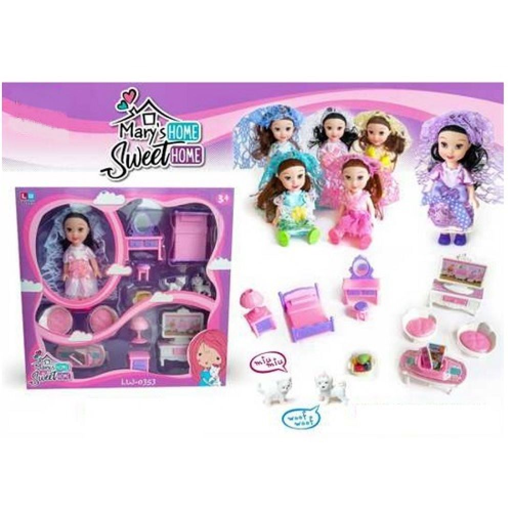 mary sweet home doll set