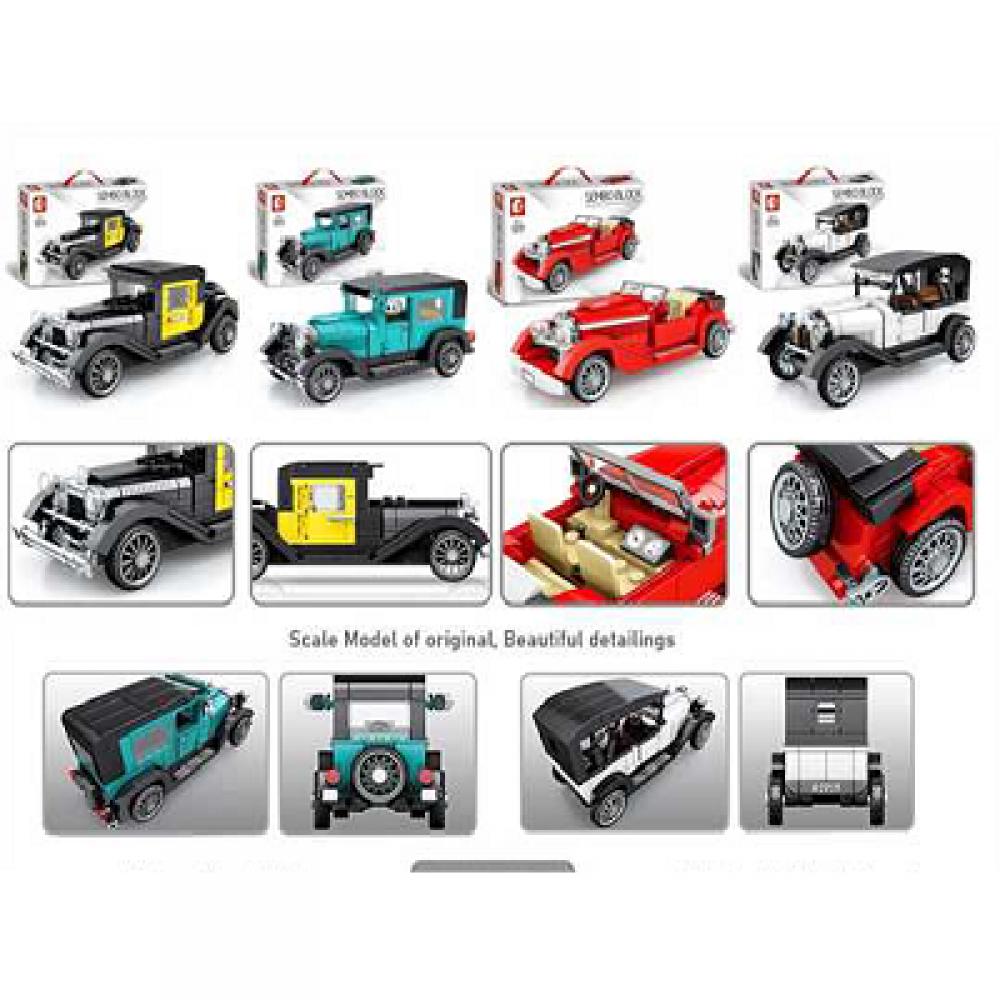 B21 Block play set Cars4 design mix Classic Car 607400-607403