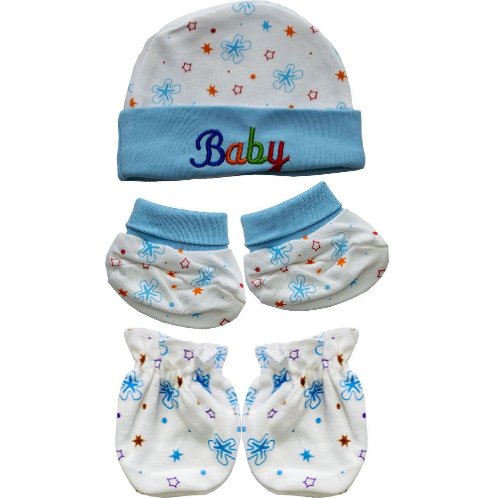 Skinco Baby Cap, Mittens & Booties Set - Mixed Colour