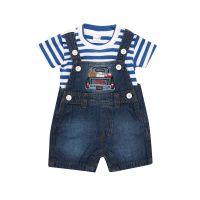 Happy Kid Eamon Dungaree Set - XXL(18-24 Months) - 4 Colour Set