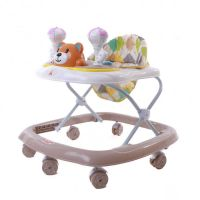EZ Baby Stroll Musical Walker 5711-Coffee+White
