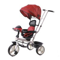 Ez Baby Tricycle with Parental push handle&Canopy 688-Red