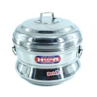 A3 Hn Stainless Steel Induction Base Idly Cooker/Maker/Panai with 3 Idly Plates (13 Idlis) No 3