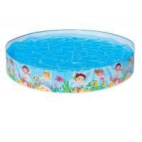 Intex Snap Set Kids Plastic Portable Swimming Pool for Family & Kids - 56451