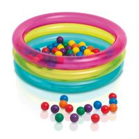 Intex 3 Ring Baby Ball Pit with Multicolour Ball for Kids 48674