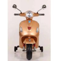Baby Rechargeable Bike / Vespa Battery Operated Ride-on Scooter for Kids CB320P - Golden