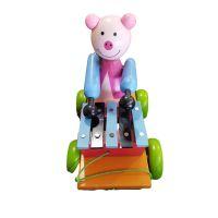 Toy wooden dool set pulling/949