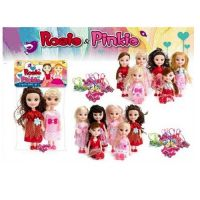 rosie and pinkie 2pc doll set