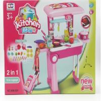 kids toy 2 in 1 little kitchen set - trolley kitchen set 21