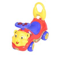 Baby Lion Manual Musical Ride On-Red
