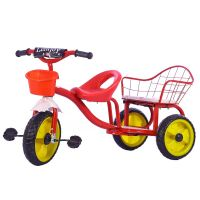 Baby Tricycle With Double Seat KBQ522-Red